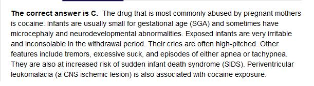 Cocaine withdrawal or opiod withdrawal in neonate?-answer.jpg