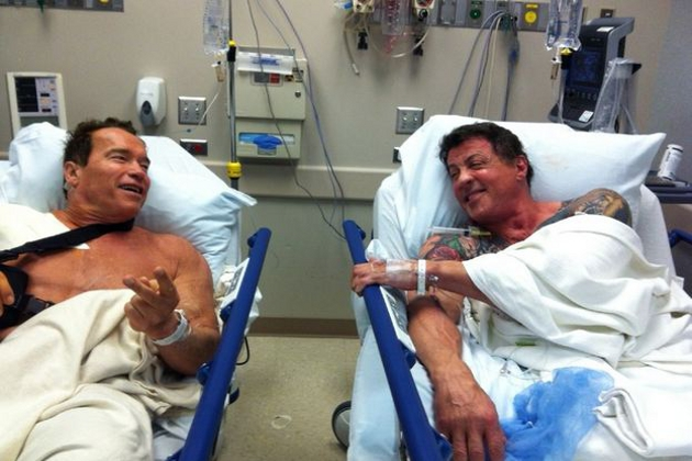 Common clinical feature among three cardiology patients!-arnold-schwarzenegger-stallone-hospital.jpg